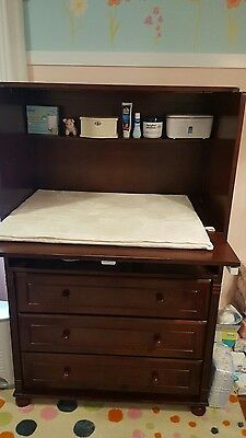 Child Baby Kids Bellini Jessica High Dresser Changing Table Mahogany