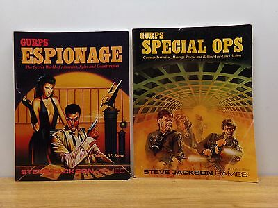 """GURPS """"Espionage"""" and """"Special Ops"""" - 2 Steve Jackson Games"""