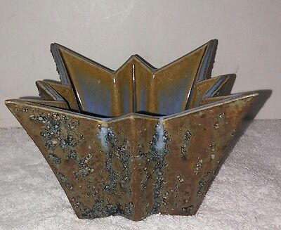 Fulper  or Stangl art pottery Mid Century Modern Atomic pottery planter