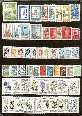 Argentina, Lot of 55 Different Stamps, MNH