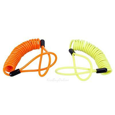 150cm Motorcycle Bicycle Safety Spring Coil Wire Disc Brake Lock Reminder Cable