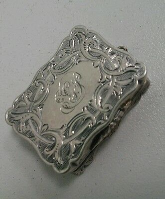 Antique Sterling Silver Pill Box Pendant by Alfred Taylor Birmingham 1867 Signed