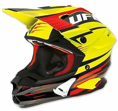 Size M - Helmet UFO Mx Interceptor Enemy Fluorescent Yellow Black Cross Enduro