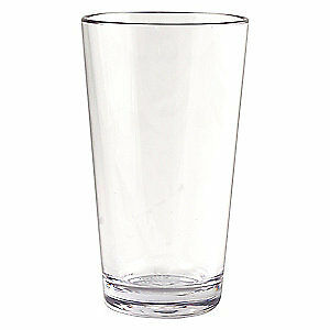 STRAHL Polycarbonate Plastic Mixing Glass,Clear,16 oz.,PK12, 403803, Clear