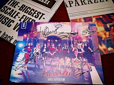 Snsd Girls Generation RARE PAPARAZZI Limited Signed Autographed Cd DVD Newspaper