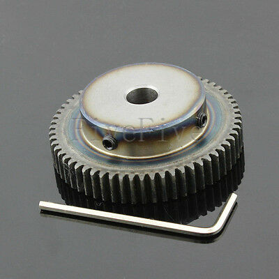 1M60T 6/8/10/12mm Bore Hole Width 10 Module 1 Motor Metal Spur Gear + Screws