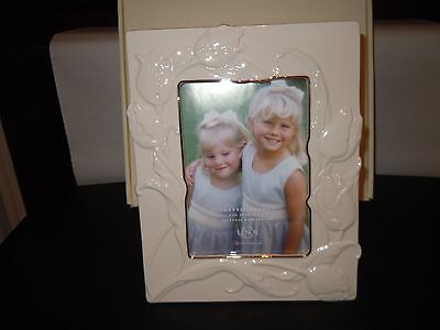 """Classic Lenox  """"TULIP"""" Ivory China Photo Picture Frame 5""""×7"""""""