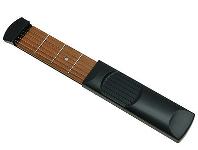 Portable Pocket Guitar 4 Fret Wooden Practice 6 String Guitar Trainer Tool
