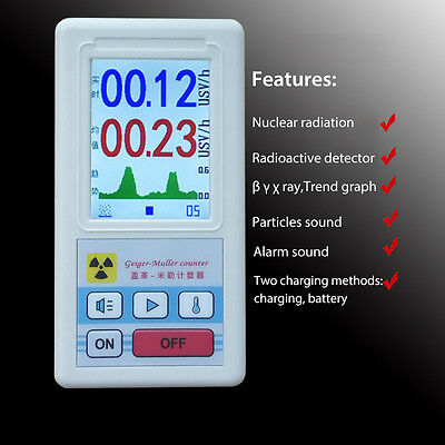 Nuclear Radiation Detector Geiger Counter X-ray Beta Gamma Tester GM Tube Meter