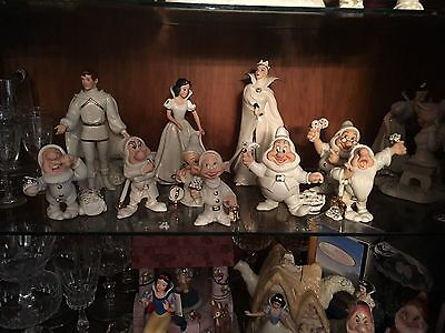 Lenox Snow White, The Prince and The Seven Dwarfs Complete Set With Witch-WoW