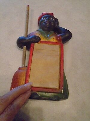 Vintage Chalkware Aunt Jemima Mammy Notepad & Pencil
