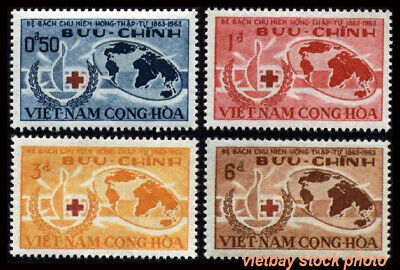 SOUTH VIETNAM 1963 Centenary of International Red Cross 219-222 Hồng Thập Tự MNH