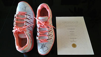 Maria Sharapova's Personal Hand Signed Nike Shoes/sneakers, Coa Included!