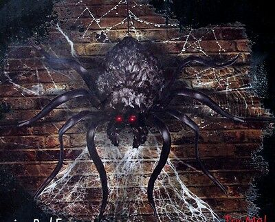 Totally Ghoul Shaking Spider Glowing Eyes Bounces Sounds Halloween Decoration