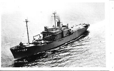 Military Ship Rppc Photo Postcard: View Of Uss Observation Island Erg Navy Photo