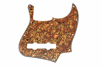 Tiger Stripe 5 String Jazz J Bass Pickguard Scratch Plate for American Fender