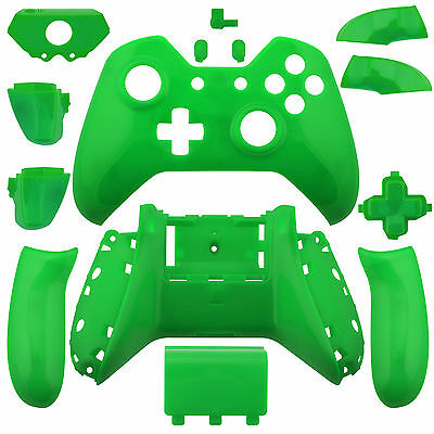 Wireless Controller Full Shell Case Housing for Xbox One Glossy Green