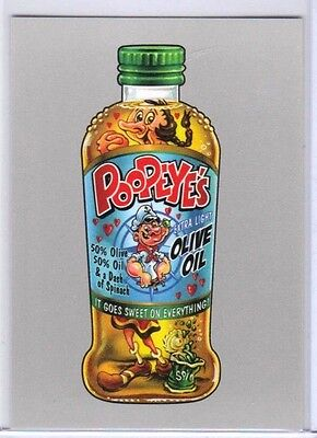 "2017 WACKY PACKAGES 50th ANNIVERSARY SILVER ""POOPEYE'S OLIVE OIL"" 30/50"