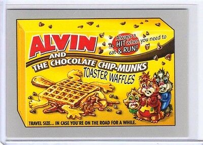 "2017 WACKY PACKAGES 50th ANNIVERSARY SILVER ""ALVIN CHIP-MUNKS WAFFLES"" 32/50"