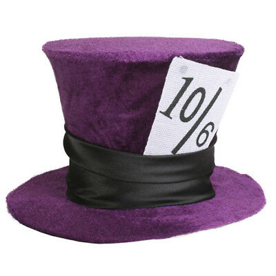 Dr Toms Adult Mini Purple Mad Hatter Hat Party Dress Up Costume Accessory