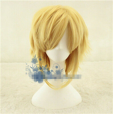 The Legend of Zelda: Breath of the Wild Link Gold Perücke Wig Cosplay Costume