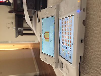 New Nintendo 3DS XL White Dual IPS Streaming Bundle +3750 Games And Charger