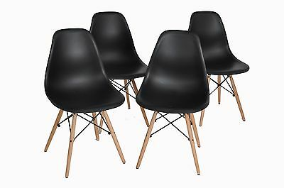 Clearance Sale Set of 4 Eames Style Design Lounge LivingRoom Dining Chairs Black