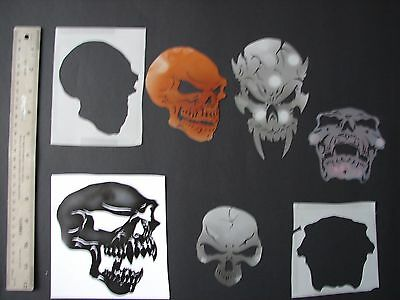 Airbrush Stencils   Skulls  lot of 30 & more