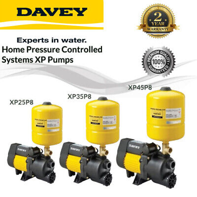 Davey Xp25P8 Xp35P8 Xp45P8 Jet Assisted Centrifugal Pump Pressure Switch&tank8L