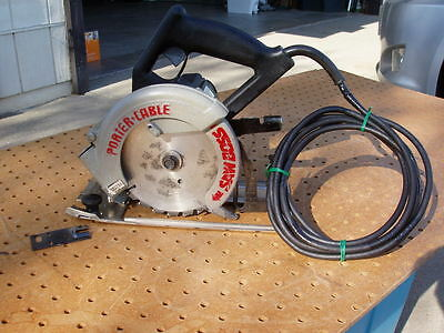 """Porter-Cable Saw Boss 6"""" Heavy Duty Circular Saw Model 345 Exc Working + Issues"""