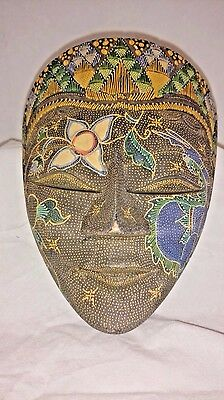 Indonesian Hand-painted Wooden Mask