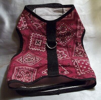 Cat Halter Jacket Kitty Harness Size S/M Velcro Fasteners~20misc