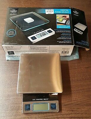 DIGITAL FOOD SCALE 1/8 oz/ 1 Gram Weight Increments by The Sharper Image EA07