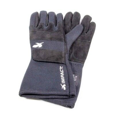 Impact Racing G4 2-Layer Driving Gloves - All Sizes (S M L XL) Black - SFI-3.3/5