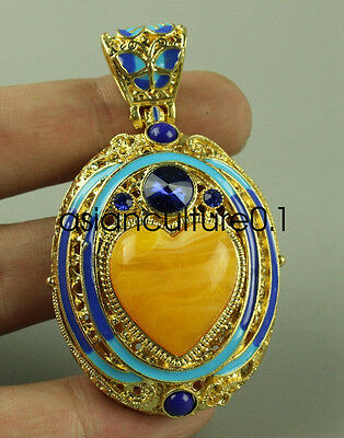 Chinese  hand-made cloisonne hollow mosaic pendants