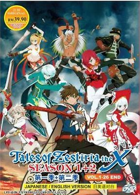 DVD ENGLISH VERSION Tales of Zestiria the X Season 1 + 2 ( Vol. 1-25 End )