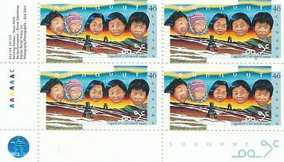 """Canada, 1999, """"creation Of The Nunavut"""" Block Of 4 Stamp Set. Mint Nh"""