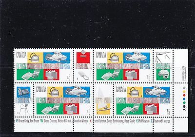 """Canada, 1997, """"canadian Industry Design"""" Block Of 4 Stamp Set. Mint Nh"""