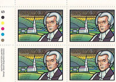 """Canada, 1988, """"inglis And Anglican C"""" Block Of 4 Stamp Set Mint Nh"""