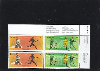 """Canada, 2004, """"summer Olympic Games"""" Block Of 4 Stamp = 2 Set Mnh"""
