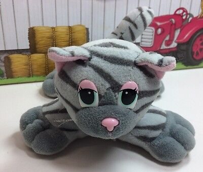 """Galoob Pound Puppies Purries Purry Cat Mommy Mom 5.5"""" Grey Tabby Tiger"""