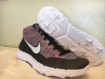 Nike Men's Flyknit Chukka Golf Shoes Multi color SZ 9         819009 002