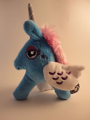 "Gund Sparkle Hunters Unicorn - Blue - 8"" New With Tags - Free Shipping"