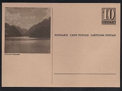 Switzerland 1946 10c Numeral Picture Postal Card  Grimsel-Stausee  Mint