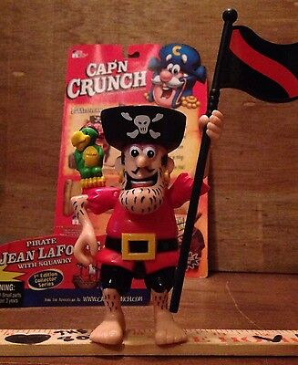 Squawky & Pirate Jean LaFoote Cap'n Crunch Action Figure COMPLETE Captain M-NM