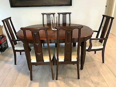 Vintage extendable dining table with