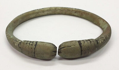 Antique African Cast Bronze Currency Anklet