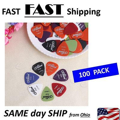 100 PACK -- Electric Guitar Acoustic Music Pick Plectrum Assorted Thickness