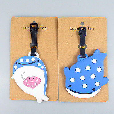 SAN-X Jinbesan Jinbei Whale Luggage Tag Japan Smile Dots 1pc