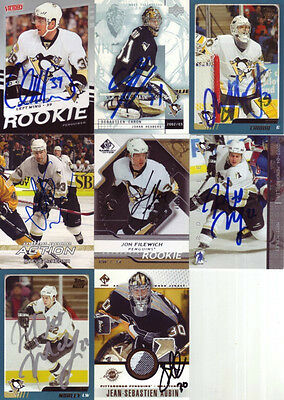 8 signierte Trading Cards NHL - Pittsburgh Penguins